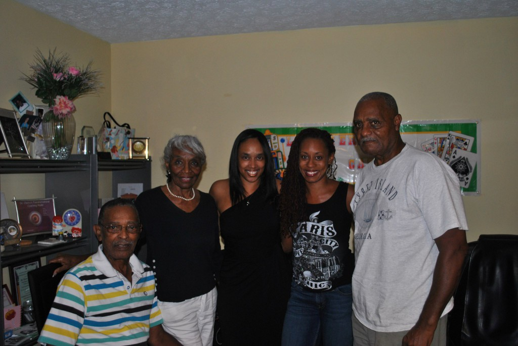 Uncle Grisby, Auntie Jessie, Cousin Big Sis, Me, Uncle Arnsel. 2011.
