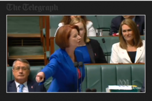 Prime Minister Julia Gillard speaks her mind with authority!