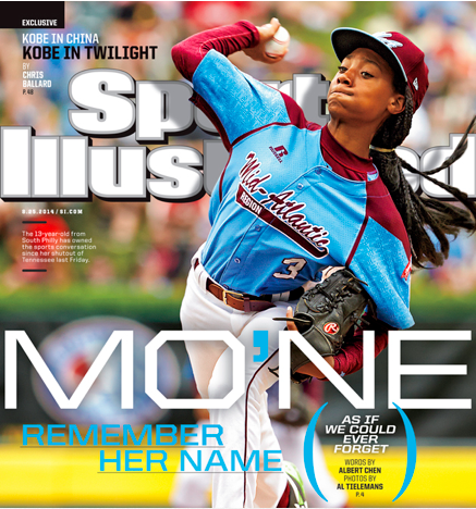 Mo'ne Davis graces the cover of SI.
