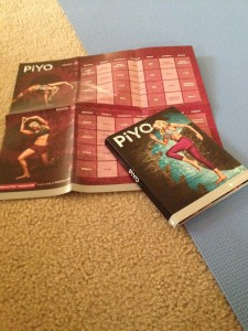 PiYo schedule and DVDs.