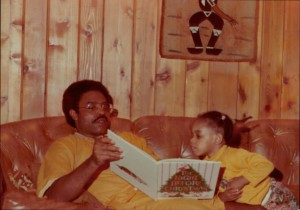 Daddy reading aloud The Night Before Christmas circa 1976.