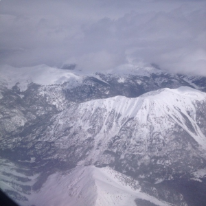The view from my window. Initial descent into Aspen, Colorado.