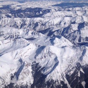 Departing Aspen, the view from my airplane window.