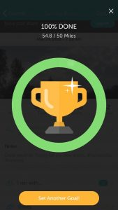 Today's RunKeeper trophy.